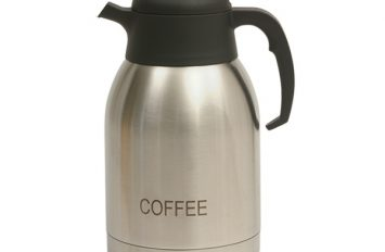 St/St Vacuum Push Button Jug 2.0L inscribed Coffee