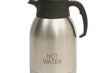 St/St Vacuum Push Button Jug 2.0L inscribed Hot Water