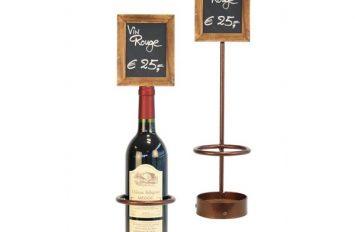 Wine Bottle x1 Chalk Board Display 45 x 10.5cm