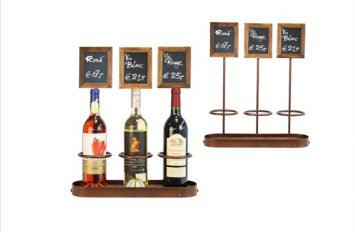 Wine Bottle x3 Chalk Board Display 45 x 38.5cm