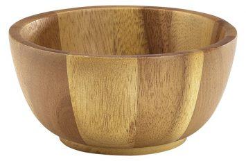 Acacia Wood Bowl 15Ø x 7cm