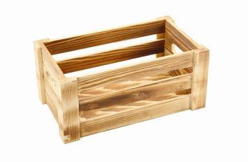 Wooden Crate Burnt Finish 27x16x12cm