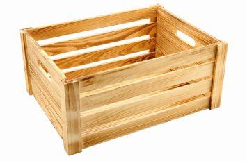 Wooden Crate Burnt Finish 41x30x18cm