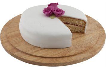 Genware Round Wood Serving / Cake Board 33cm
