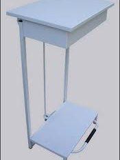 Open Metal Pedal Bin White