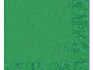 TUSCANY SERVIETTE 2 PLY GREEN - 33cm x 33cm (2000)