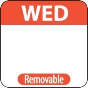"Wednesday Label - 1"" Square (1000)"