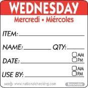 Wednesday Label - 50mm (500)