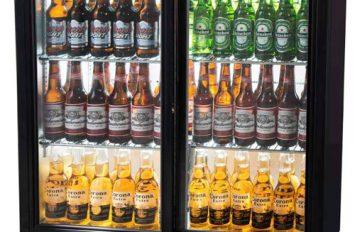 Unifrost BC20SBE 2 dr Sliding Bottle Cooler Black