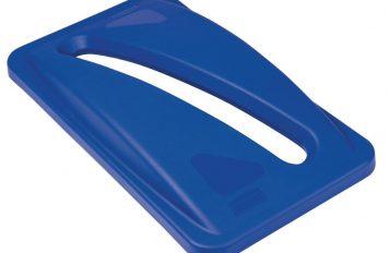 Rubbermaid Slim Jim Paper Top Blue