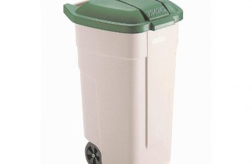 Rubbermaid Big wheel container with Green lid