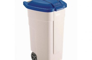 Rubbermaid Big wheel container with Blue lid