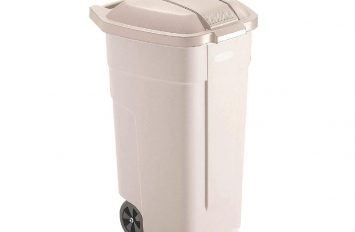 Rubbermaid Big wheel container with Beige lid