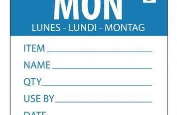 Monday - Dissolvable Label - 50mm (250)
