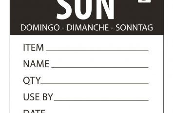 Sunday - Dissolvable Label - 50mm (250)