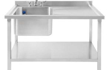 Atlas SBLD1200 Single Bowl Sink Left Hand Drain 1200 x 700 x 850mm