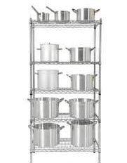 Atlas Chrome Plated Shelf Set A. W910 x D455 x H1800mm