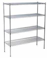 Atlas Chrome Plated Shelf Set B. W1220 x D455 x H1800mm