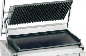 Banks PCG-RF Panini Grill Ribbed Top Flat Bottom