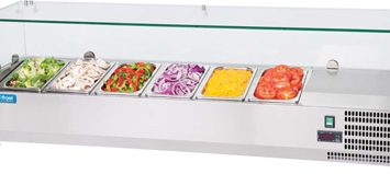 Unifrost CT1400 6 x 1/4 GN Toppings Fridge