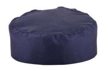 Whites Chefs Skull Cap Blue - Size Medium